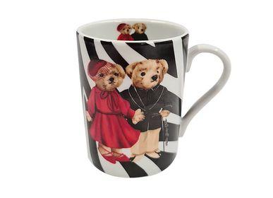 Tasses et mugs - Tasse à café en porcelaine à motifs Ours en peluche Zèbre Vitelli - VITELLI DESIGN STUDIO