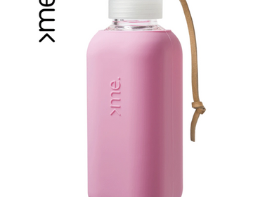 Gifts - REUSABLE GLASS BOTTLE POWDER PINK (600ml)  SQUIREME. Y1 SUSTAINABLE  - SQUIREME.