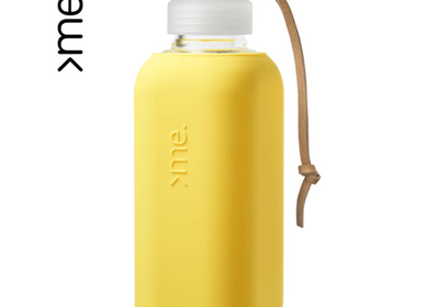 Gifts - REUSABLE GLASS BOTTLE YELLOW (600ml)  SQUIREME. Y1 SUSTAINABLE - SQUIREME.
