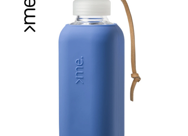 Gifts -  REUSABLE GLASS BOTTLE TRUE BLUE (600ml)  SQUIREME. Y1 SUSTAINABLE - SQUIREME.