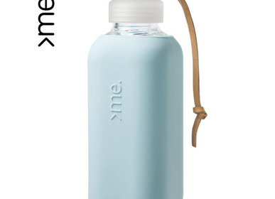 Gifts - REUSABLE GLASS BOTTLE SURF BLUE (600ml)  SQUIREME. Y1 SUSTAINABLE - SQUIREME.