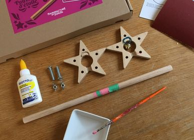 Children's arts and crafts - Tinkerbell's Wand, wooden fairy wand to build - MANUFACTURE EN FAMILLE