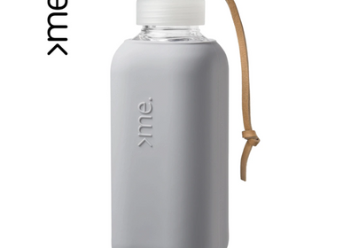 Gifts - REUSABLE GLASS BOTTLE CONCRETE (600ml)  SQUIREME. Y1 SUSTAINABLE - SQUIREME.
