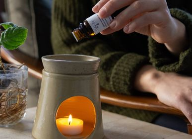 Scent diffusers - Stoneware Oil Burner - Ginger - RHOECO - FINE ORGANIC GOODS