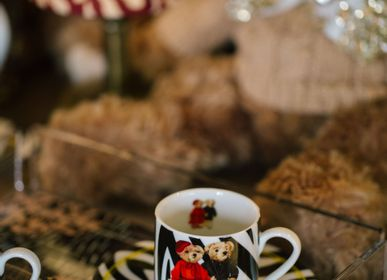 Tea and coffee accessories - Vitelli Zebra Teddy Bear Patterned 20 Cm Porcelain Plate - VITELLI DESIGN STUDIO