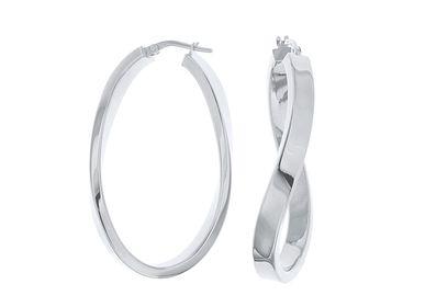 Jewelry - Twist Hoop Earrings - LINEA ITALIA SRL
