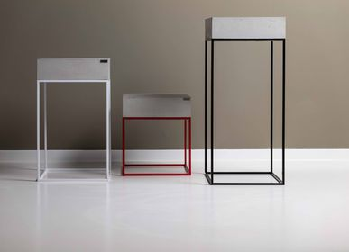 Other tables - ANGULUS COLUMNA Concrete and Steel Decorative Pedestal / Side Table / Stand - CO33 EXKLUSIVE BETONMÖBEL