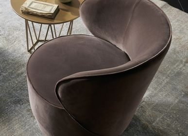 Lounge chairs for hospitalities & contracts - GRACE swivel armchair - EMMEBI HOME ITALIAN STYLE