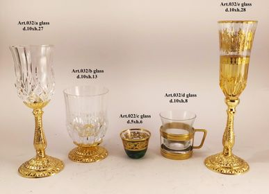 Glass - luxury glasses in plated bronze and crystal - OLYMPUS BRASS