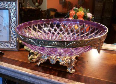 Objets design - Plateau de valet en cristal et plaqué bronze - OLYMPUS BRASS