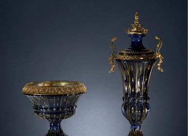 Vases - art. 150/160 vases in crystal and bronze plated - OLYMPUS BRASS