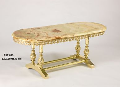 Coffee tables - COFFE TABLES in marble and brass plated  - OLYMPUS BRASS