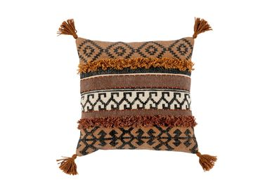 Fabric cushions - KEISHA COTTON CUSHION 45X45 CM AX21521 - ANDREA HOUSE