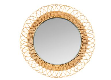 Mirrors - WICKER MIRROR Ø68X5,5 AX21534 - ANDREA HOUSE