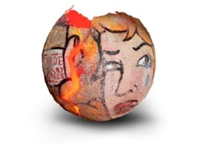 Decorative objects - Eggs with outsider graffiti - NATALIE SANZACHE
