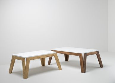 Coffee tables - Coffee table in wood and HI-MACS® - DELAVELLE
