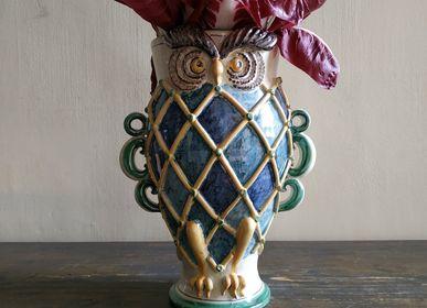 Vases - Owl Vase - AGATA TREASURES