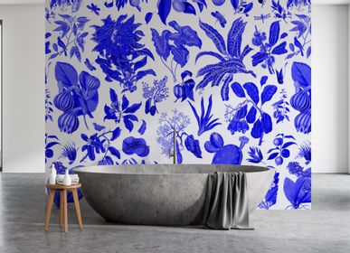 Other wall decoration - Wallpanel Fleurs d'Antan Bleu Outremer - PAPERMINT