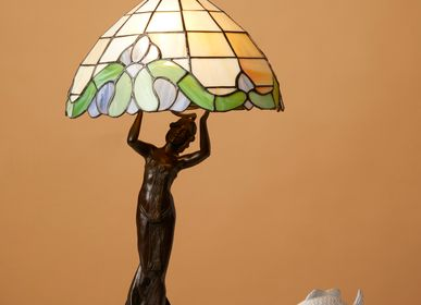 Sculptures, statuettes and miniatures - Table lamp with small lady - ART'Ù FIRENZE