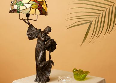 Sculptures, statuettes et miniatures - Lampe de table avec dame - ART'Ù FIRENZE