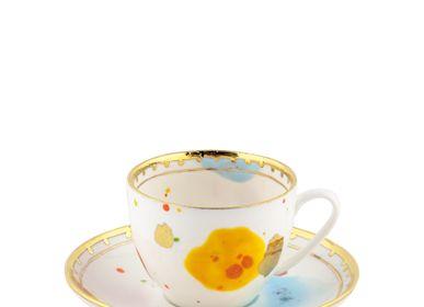 Everyday plates - Teacup & Saucer Caravaggio - CORALLA MAIURI