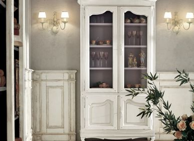 Bookshelves - French Provincial two shaped doors cabinet - INTERIORS ITALIA
