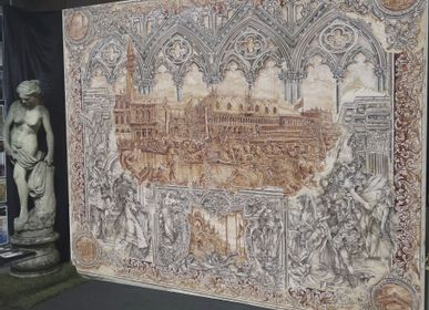 Unique pieces -  Triptych of Venice - IVAN CESCHIN FRESCOES DECORATIONS RESTORATIONS