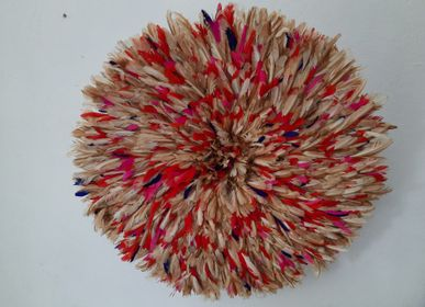Other wall decoration - Juju hat or wall decoration or decorative object or bamileke headdress or aka headdress or decorative object - SUBLIME JUJU HAT
