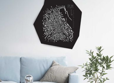 Design objects - Palermo leather city map - Wall decoration - FRANK&FRANK