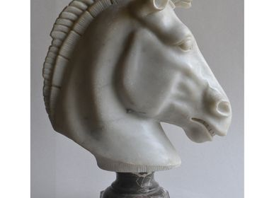Sculptures, statuettes and miniatures - Marble Horse Head - TODINI SCULTURE