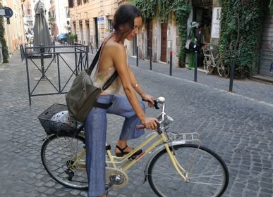 Bags and totes - Handmade Messenger, bike bag - ELENA KIHLMAN