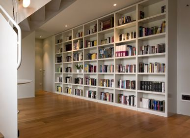 Bookshelves - Bespoke furniture for home made with matt lacquered wood - BARTOLUCCI ARREDAMENTI
