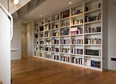 Bibliothèques - Meubles sur mesure pour une maison en bois laqué mat - BARTOLUCCI ARREDAMENTI