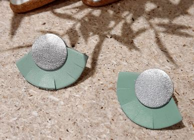 Jewelry - Solar Leather Stud Earrings - NI UNE NI DEUX BIJOUX