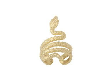 Jewelry - Serpentine Gold-Plated Ring - COLLECTION CONSTANCE