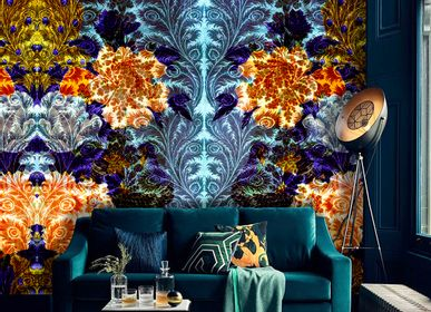 Chambres d'hôtels - Wallcovering Midnight Flowers - LA AURELIA DESIGN