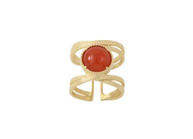 Bijoux - Bague Iris Cornaline  - COLLECTION CONSTANCE