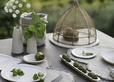 Assiettes de réception  - collection en gres artisanal naturel - FIORIRA UN GIARDINO SRL