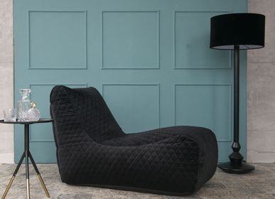 Lounge chairs for hospitalities & contracts - Bean bag Lounge Lure Luxe Black - PUSKUPUSKU