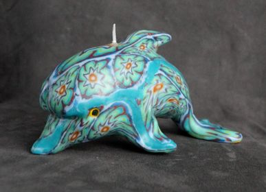 Decorative objects - CANDLE DOLPHIN ROSETTA GREEN - KANDHELA