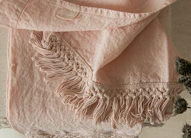 Serviettes de bain - Ensemble de serviettes de bain avec frange longue - ONCE MILANO