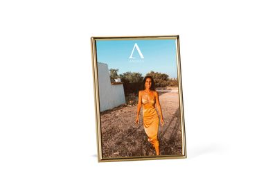 Decorative objects - GOLDEN METAL PHOTO FRAME 10X15 CM AX21551 - ANDREA HOUSE