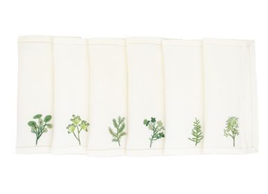 Table linen - Fines feuilles cocktail napkins - KISANY