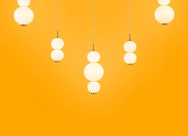 Ceiling lights - Bonbon Linear Set of 5 Multi White Glass - ATOLYE STORE