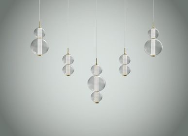Ceiling lights - Bonbon Linear Set of 5 Multi Smoke Glass - ATOLYE STORE