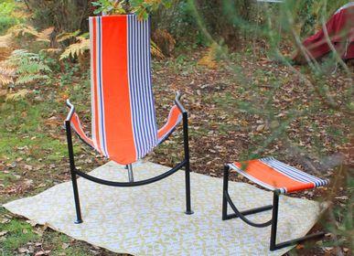 Deck chairs - Set LOUNGER NC1® + Footrest - ATELIER METALART