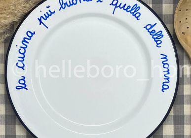 Assiettes au quotidien - Plat LA CUCINA PIU' BUONA E' QUELLA DELLA NONNA - HELLEBORO.HOMEDECOR