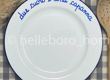 Assiettes au quotidien - Assiette DUE CUORI E UNA CAPANNA - HELLEBORO.HOMEDECOR