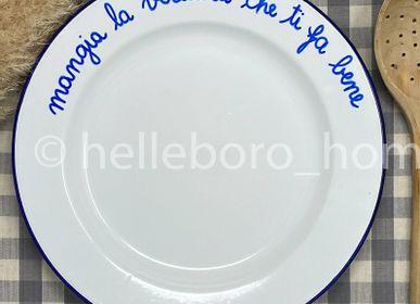 Assiettes au quotidien - Plat MANGIA LA VERDURA CHE TI FA BENE - HELLEBORO.HOMEDECOR