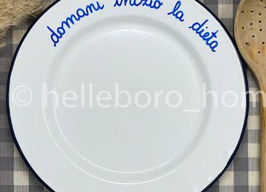 Assiettes au quotidien - Assiette DOMANI INIZIO LA DIETA  - HELLEBORO.HOMEDECOR